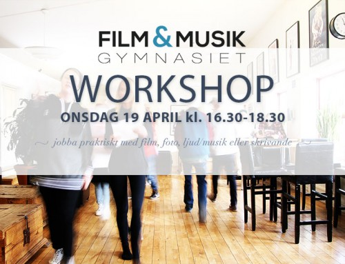 Workshop 19 april 16.30-18.30